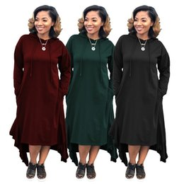 Ankle length cAsuAl winter dresses online shopping - women designer Ankle Length skirt long sleeve one piece dress high quality loose dress sexy elegant luxury fashion skirt klw0356
