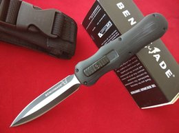 BM Benchmade 3350 3300 Infidel Pocket knife D2 steel double edge Plain tactical survival gear knives with retail box