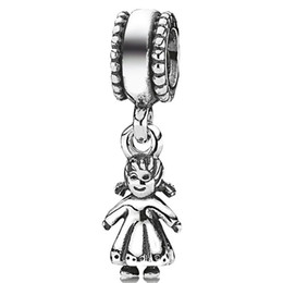 online shopping 925 sterling silver baby girl shaped beads European charm pendants charming fit Pandora Bracelet snake chain jewelry