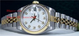 Top Quality Ladies Wristwatch 26mm 18kt Gold/Stainless White Diamond Dial Automatic Womens Watch Women's Watches