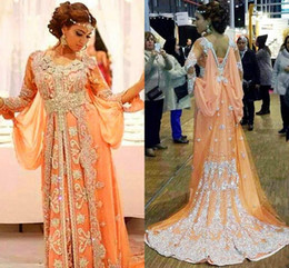 Formal evening dress lavender scoop line online shopping - Gorgeous Beaded Evening Dress Formal Abaya Dubai Moroccan Kaftans Long Sleeves Middle East Arabic Luxury Party Ball Celebrity Dress