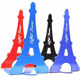 bookend book 2019 - Eiffel Tower Shape Bookend Thick And Solid Bookshelf Retro Metal Iron Book End Holder New Arrival 8 6lya B discount book