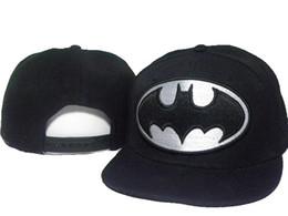 China black adjustable Batman Cartoon Marvel Hero bat man Snapback Hats men's fashion character adjustable caps for men women freeshipping DDMY suppliers