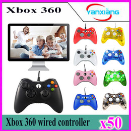 Usb joystick pc compUter online shopping - 50pcs Game Controller Xbox Gamepad Black USB Wire PC XBOX360 Joypad Joystick XBOX360 Accessory For Laptop Computer PC YX