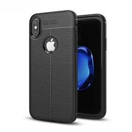 Metal Mobile covers online shopping - Leather Slim Cellphone Case Mobile Phone Protective Cover Skin for iPhone X Plus High Quality