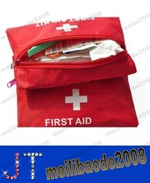 NEW FREE SHIPPING First Aid Kit For Outdoor Travel Sports Emergency Survival Indoor Or Car Treatment Pack Bag MYY13014A