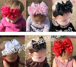 crochet hair accessories for babies 2019 - 10pcs korker bow streamer mix color corker 4 layered hair clip baby girls flower with Crochet hair band accessory for ha
