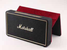 Metal Mobile covers online shopping - Marshall Stockwell Portable Bluetooth Speaker Wireless Speakers With Flip Cover Case With US AU EU Adaptor