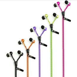 Mp3 player jack online shopping - 3 mm Jack In ear Zipper Earphone Stereo Hands free Headphones Earphones Earbud With Mic For Mp3 Player speaker For Iphone plus Samsung
