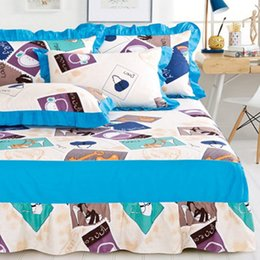 Discount queen ice - Wholesale-Cotton bed skirt 1 pieces princess bed cover sheets 1.8 1.5 1.2 m 3size