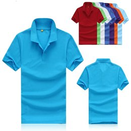 2015 new fashion men's short-sleeved polo shirt lapel Men's T-shirt free shipping