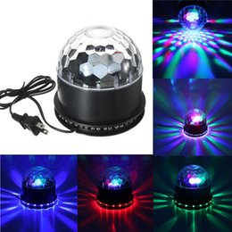 color light ball 2019 - AC 110-265V Beautiful Design 48 LED Colorful RGB Crystal Magic Ball KTV Party Club Disco DJ Stage Lighting Effect Light