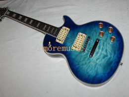 Discount blue burst electric guitar - Best High Quality Newest Bule Burst Mahogany Body Custom Electric Guitar High Cheap