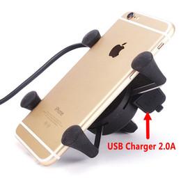 bicycle phone holders waterproof 2019 - Wholesale- 2016 2in1 Motorcycle USB Charger Waterproof Motorbike Handlebar Phone GPS Holder Power Adapter For Electric B