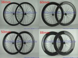 Discount bike decals - Full carbon road bike wheels Wheelset without decal stickers full black 3K UD glossy matte finish 38 50 60 88 mm origina