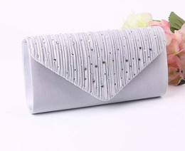 simple evening clutch bags 2019 - 2017 Diomand Evening bags Women Satin Long Hasp Clutch Bags Simple Cosmetic Bag In wedding