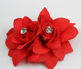 China Chic Hair Accessories Wholesale 7 Colors Flower Clip Hairpin For Bridal Wedding Prom Party Gift For Girls Headwear supplier wedding hair diamonds suppliers