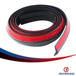 PQY RACING- Carbon Fiber 2.5M/ROLL 65MM Width Car Front Bumper Lip Splitter Protector Body Spoiler Valance Chin PQY-FBL31