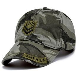 tactical army hat 2019 - High Quality US Army Cap Camo Mens Baseball Cap Brand Tactical Cap Mens Hats and Caps Gorra Militar for Adult cheap tact