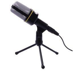 clips for phone holders 2019 - DHLTH920 Professional Condenser Sound Wired Microphone Microfone with Stand Holder Clip for Chatting Singing Karaoke PC