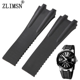 Discount diver watches for men - Watch Bands 27mm Rubber Black Diver Watch Strap Band For U-N Rubber Men Women Relojes Hombre 2016 Leather