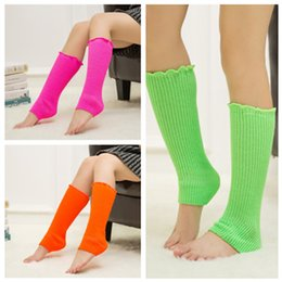 Fashion Adult Leg warmers Boots Sets of Autumn and Winter Knitted Wool Leg Sets of Fluorescent Color Knees Pile Heap Socks