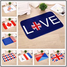 Mark style online shopping - Flannel Carpet Flag Land Mark Building Series Australia USA UK Canada Mat Bedroom Kitchen Corridor Door Anti Skid Pad dk F R