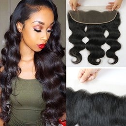 malaysia virgin hair 2019 - Brazilian Virgin Hair Body Wave Weaves Frontal Closure Cambodian Peruvian Malaysia Indian Curly 13x4 Lace Frontal Hair P