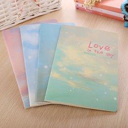 kawaii sketchbook 2019 - Wholesale- Korea Stationery Cute Kawaii Notebook School Supplies Agenda Binder Writing Pads Personal Diary Staionary Ske