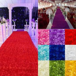 sexy backgrounds 2019 - Wedding Table Decorations Background Wedding Favors 3D Rose Petal Carpet Aisle Runner For Wedding Party Decoration Suppl
