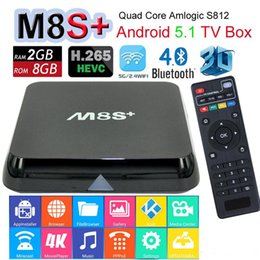 In Stock 1P M8 M8S+ M8S Plus Android5.1 TV Box Amlogic S812 Quad Core 2.4&5GHZ Wifi 2G 8G 1000M Gigabit Bluetooth Smart Media Player