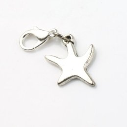 Wholesale plates for floating charm online shopping - Dancing Smooth Sea Star Starfish Charms Heart x31 mm Tibetan silver Floating Lobster Clasps for Glass Living C117