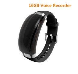 online shopping New GB Wristband voice recorder VOS sound control adjustable bracelet voice recorder MP3 support languages WR A