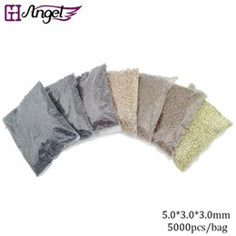 GH Angel Cheap 5000pcs Micro Rings Loop Link Beads Silicone Micro Beads for Feather I Tip Hair Extension Tools
