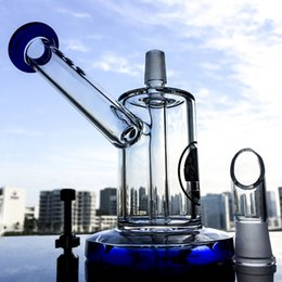 glass mouthpieces 2019 - New 3 Set Bubbler Bong With Straight Tube Perc 14.5cm Tall Sidecar Mouthpiece Mini Nano Dab Rigs 14.5mm Male Joint DGC12