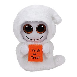 Wholesale- 2016 New 15cm 6inch Ty Beanie Boos Plush Toy Mist - White Ghost Stuffed Animal Soft Kids Toy Birthday Halloween Gift
