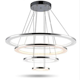 Chinese  Minimalist acrylic led chandelier lights Led pendant lights four rings Chandelier Pendant Lamp Ceiling Lamps Fixtures AC85-265V manufacturers