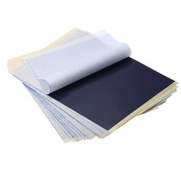 Discount thermal carbon paper - 25Pcs 4 Layers Tattoo Transfer Paper Tattoo Supply Carbon Thermal Stencil Copy Tracing Paper Free Shipping