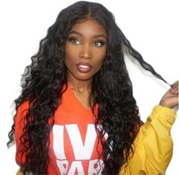 14 inch remy wig online shopping - Silk Base Full Lace Wigs Water Wave Cambodian Remy Human Hair Wig For Black Women Natural Color Inch FDSHINE