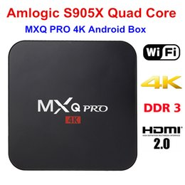 Android TV Box 6.0 S905X MXQ pro 4K Quad Core Kodi TV Box Support WiFi HDMI2.0 DLNA