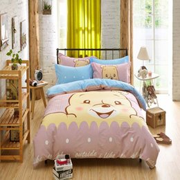 queen ice 2019 - Wholesale- 2016 New fashion Printing Children 3D Cartoon Bedclothes Duvet Cover Set Bed Sheet For Children Kids Bedding