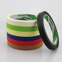 Discount car mask - Wholesale- 2016 10Rolls 12mmx25M Crepe Paper Masking Tape Good For Car Painting Wall Painting Drawing Decoration Paintin