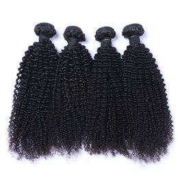 Chinese  Peruvian Human Remy Virgin Hair Kinky Curly Hair Weaves Natural Color 100g bundle Double Wefts 4Bundles lot Hair Extensions manufacturers