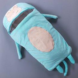 cartoon character sleeping bags 2019 - 0-1 Years Old Warmer Envelope Baby Sleeping Bags Cute Cartoon Soft Kids Sleep Beds 3 Colors 10pcs lot cheap cartoon char