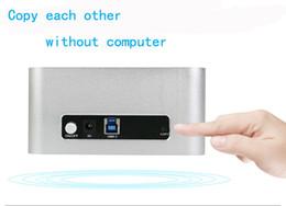 China Wholesale- 5 GBPS Fast Speed EU plug AU plug US plug sata 2.5 enclosure usb 3 hard drive enclosure 2.5 2 bay usb 3.0 hdd docking station cheap 3.5 sata drive suppliers