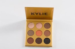 NEW Gold Kyshadow Kylie JENNER cosmetic Pressed Powder Eye shadow Kit 9 Color EyeShadow Palette Highlighter Powder Shimmer Contour naked mor