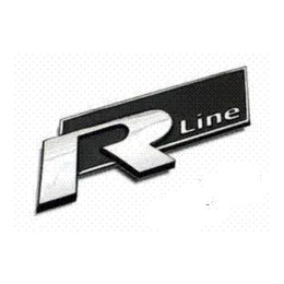beetle emblem 2019 - 2 Colors 3D metal Rline R line Car Sticker emblem for volkswagen VW Beetle polo golf CC Touareg Tiguan Passat Scirocco s