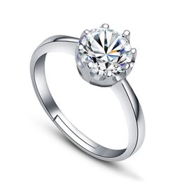 China Zircon Crystal Crown Ring Adjustable Silver Ring Nail Rings for Women Bride Wedding Jewelry Will and Sandy DROP SHIP 080169 suppliers