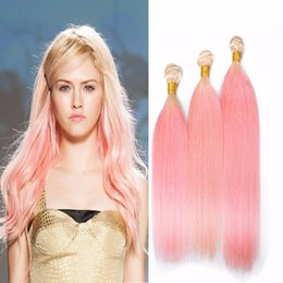 Discount dark pink hair dye - 9A Two Tone #613 Pink Ombre Hair Extensions 3 Bundles Lot New Sale Blonde Pink Dark Root Ombre Straight Virgin Human Hai