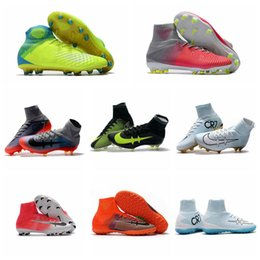 2017 cheap Mens Mercurial Superfly FG TF CR7 Soccer Shoes magista obra Soccer Cleats original Kids Boys football boots Superfly 5 Turf women